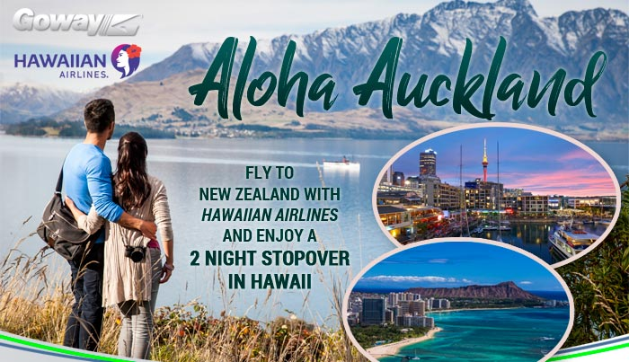 Aloha Auckland - Fly to New Zealand with Hawaiian Airlines and enjoy a two night stopover in Hawaii