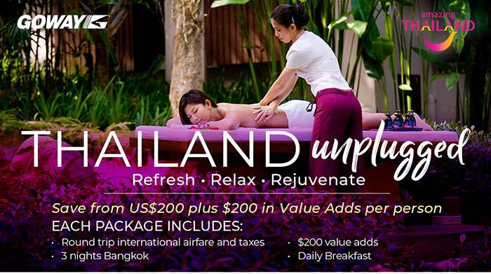 Thailand Unplugged - save from US$200 in Value Adds. See site for details