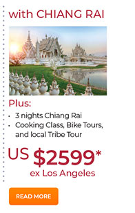 With Chiang Rai 3 nights from US$2599. See site for details