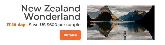 New Zealand Wonderland Save US$600 per couple