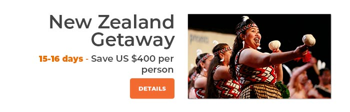 New Zealand Getaway Save US$400 Per couple