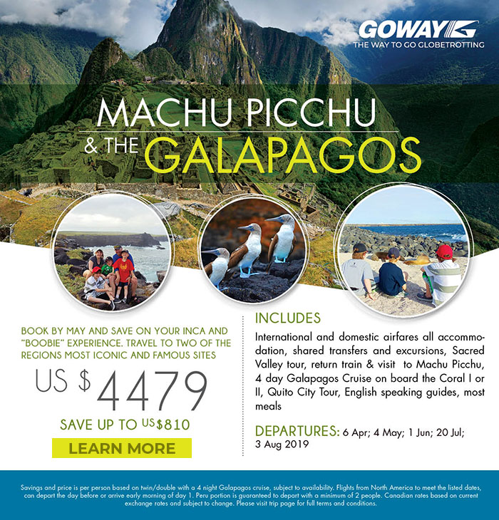 Machu Picchu and the Galapagos Book by May and save up to US$810. Starting from US$4479. Please see site for details