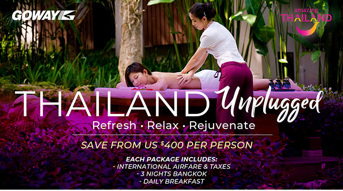 Thailand Unplugged - save from US$400 per person in Value Adds. See site for details