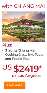 With Chiang Mai 3 nights from US$2419. See site for details