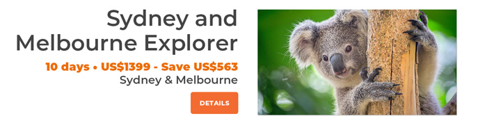 Sydney and Melbourne Explorer - 10 days from US$1229