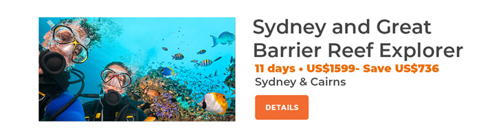 Sydney and Great Barrier Reef 11 days from US$1439