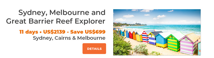 Sydney, Melbourne and Great Barrier Reef 11 days from US$2079
