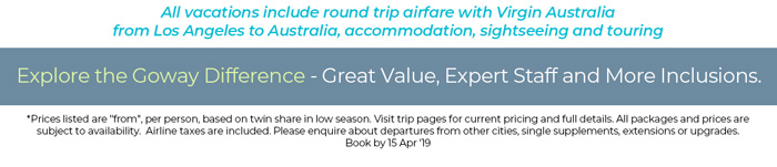 Includes Round Trip Airfare from Los Angeles, accommodation and sightseeing. See site for details.
