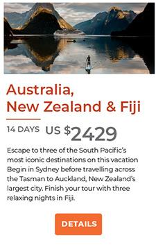 Australia New Zealand and Fiji 14 days from US$2429